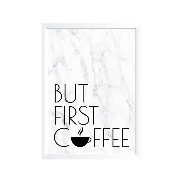 تابلو وینا مدل But first coffee