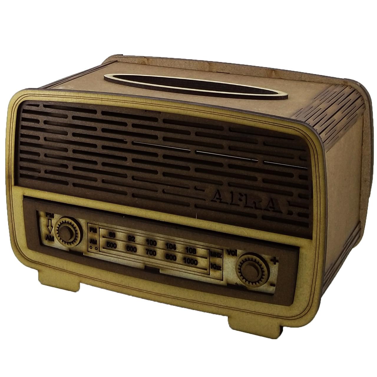 جعبه دستمال کاغذی افرا طرح رادیو کد MHP9086