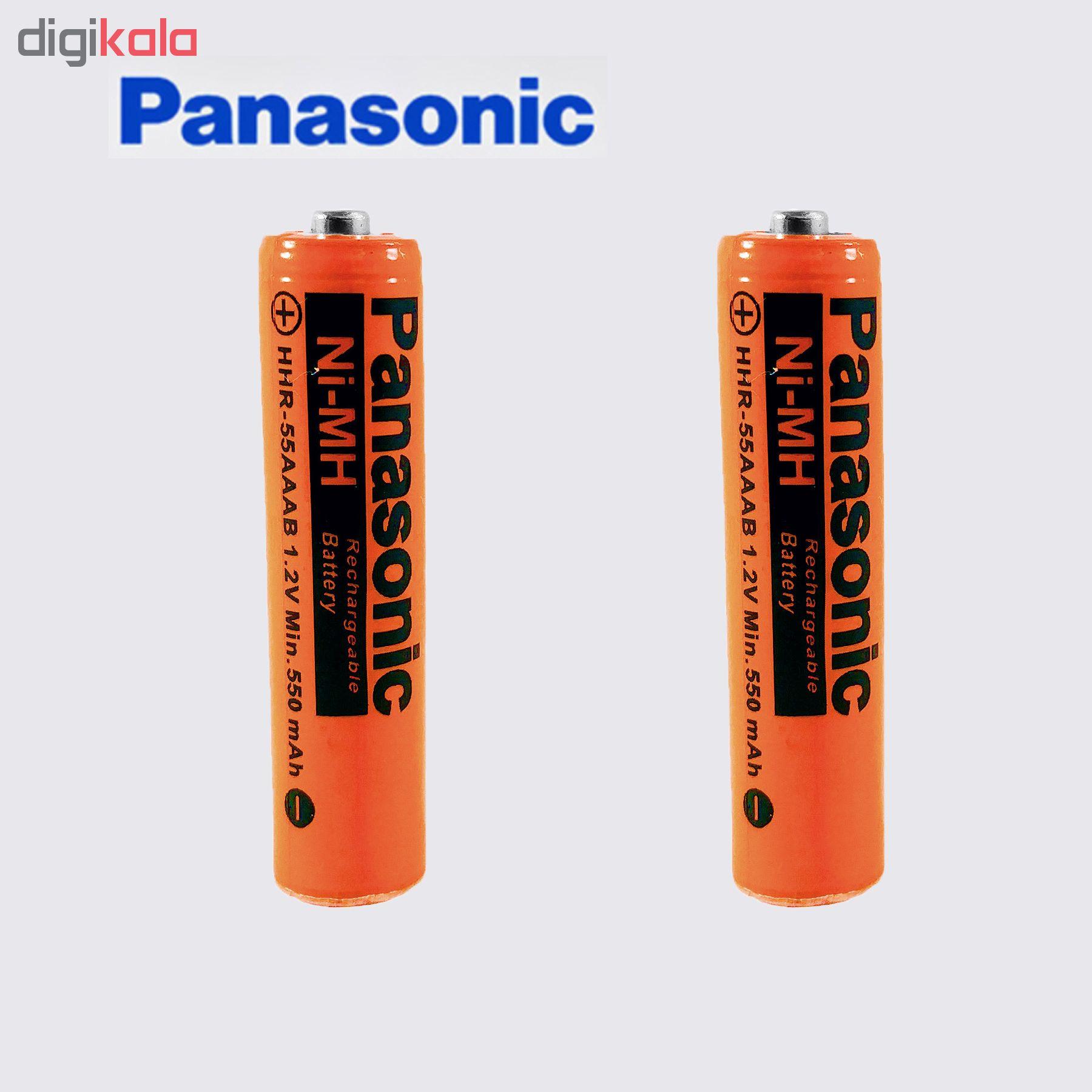خرید اینترنتی                     باتری نیم قلمی قابل شارژ پاناسونیک مدل HHR-550  بسته 2 عددی