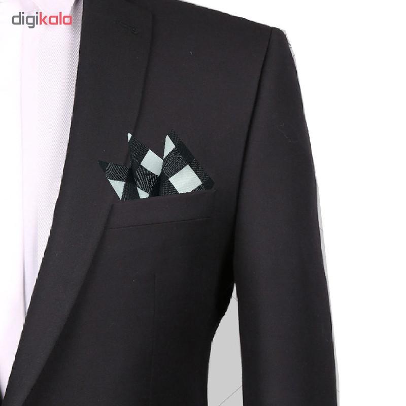 دستمال جیب مردانه هکس ایران مدل DM-BK WT