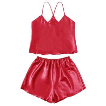 لباس خواب زنانه  کد T-830 رنگ قرمز