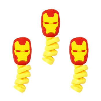محافظ کابل طرح Iron Man کد 1113 بسته 3 عددی