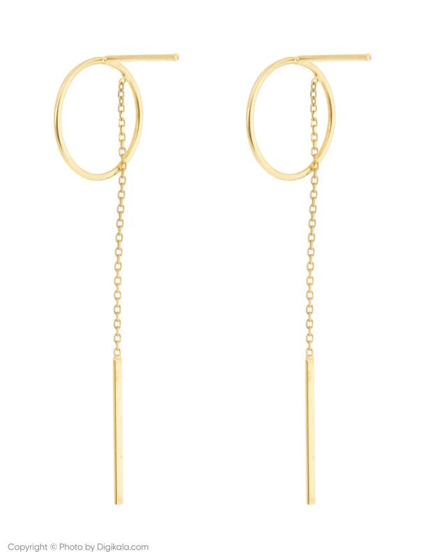 گوشواره طلا 18 عیار زنانه میو گلد مدل EG187