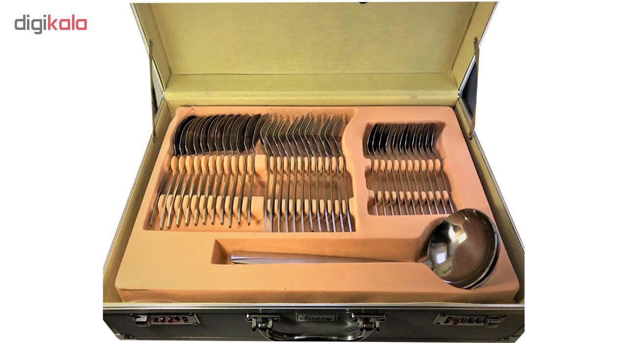 سرویس قاشق و چنگال 128 پارچه کلاسی مدل 301