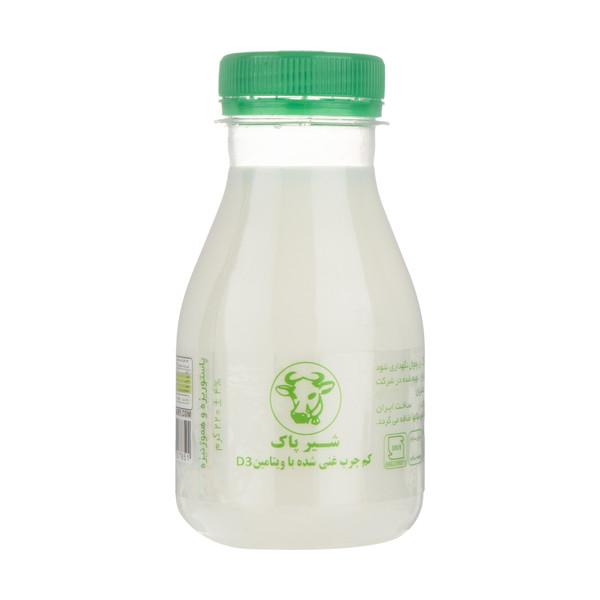 شیر کم چرب پاک حجم 220 گرم