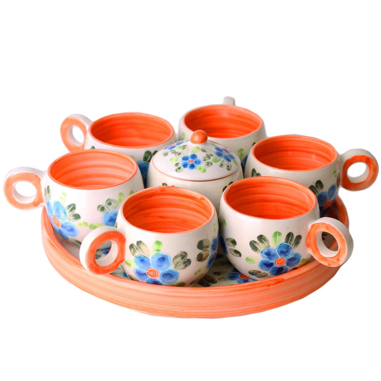 سرویس چایخوری سرامیکی طرح گل بهار کد N12