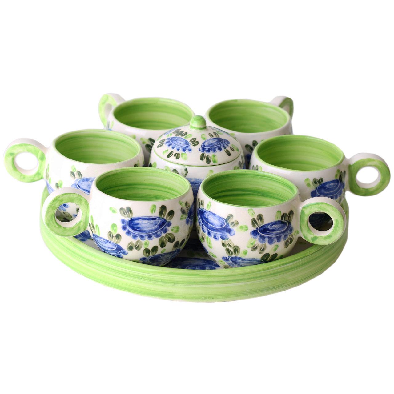 سرویس چایخوری سرامیکی طرح گل بهار کد N18