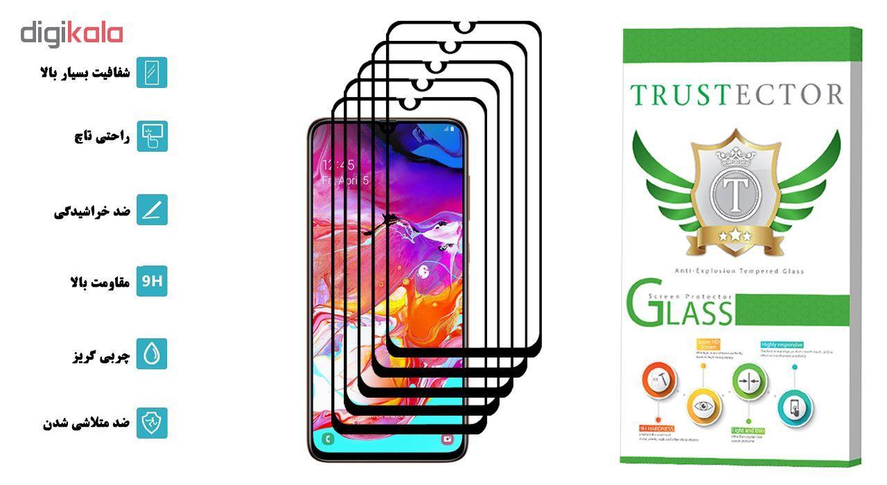 محافظ صفحه نمایش تراستکتور مدل GSS مناسب برای گوشی موبایل سامسونگ Galaxy A70 بسته 5 عددی main 1 2