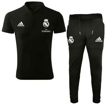 ست پولوشرت و شلوار ورزشی مردانه طرح رئال مادرید کد 76546