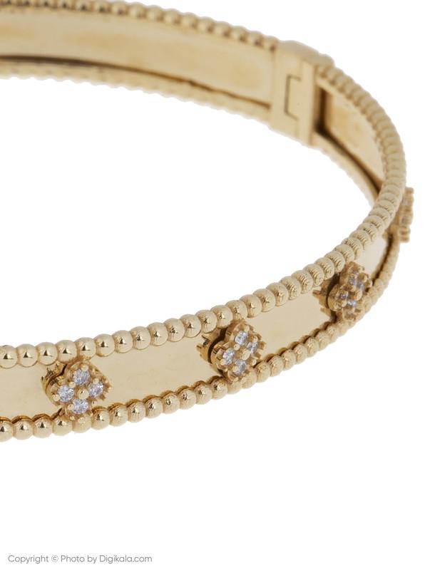 دستبند النگویی طلا 18 عیار زنانه میو گلد مدل AKL20