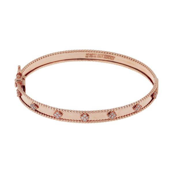 دستبند النگویی طلا 18 عیار زنانه میو گلد مدل AKL19