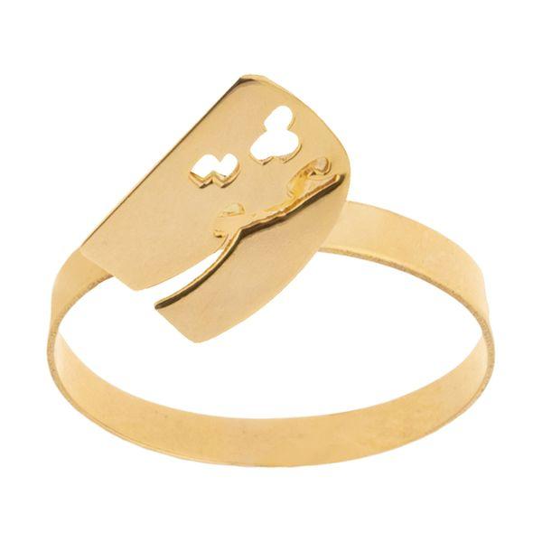 انگشتر طلا 18 عیار زنانه میو گلد مدل RG71