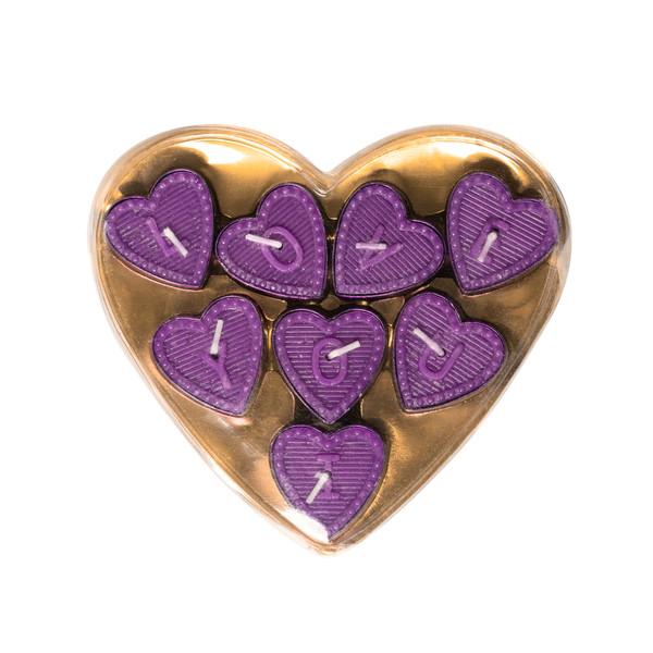 شمع وارمر مدل قلبی  کد m61 بسته 8 عددی