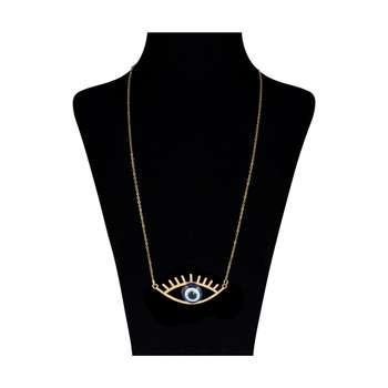 گردنبند زنانه طرح چشم نظر کد 10