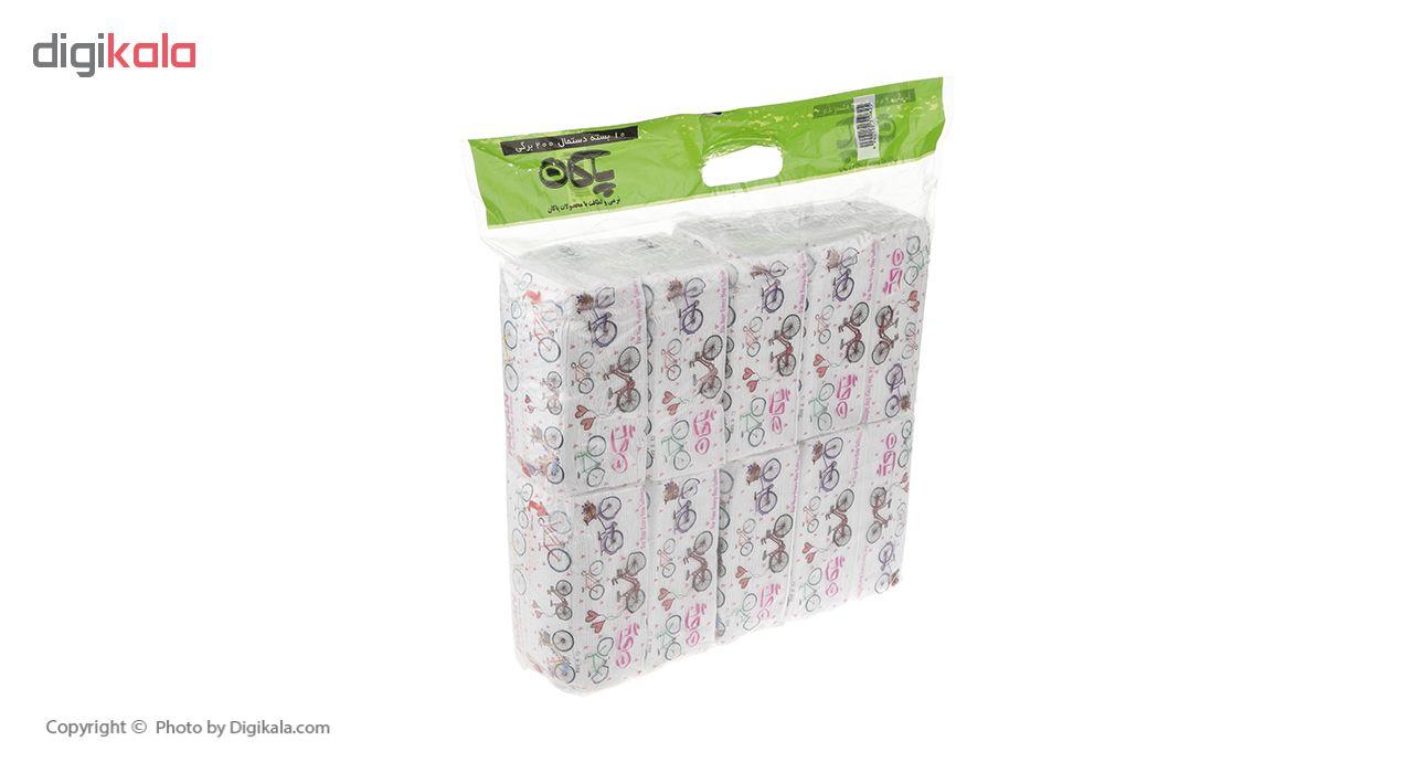 دستمال کاغذی 200 برگ پاکان مدل Simple بسته 10 عددی main 1 1