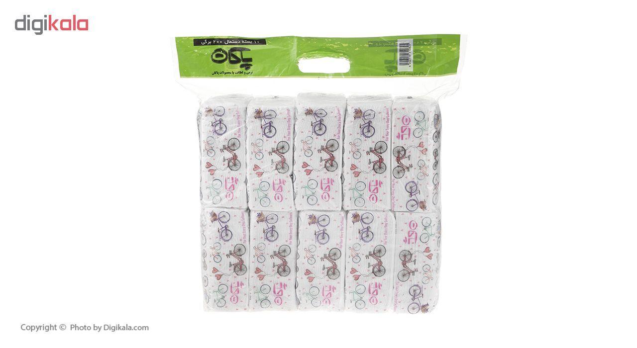 دستمال کاغذی 200 برگ پاکان مدل Simple بسته 10 عددی main 1 2