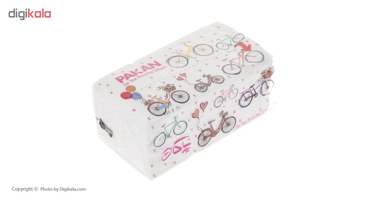 دستمال کاغذی 200 برگ پاکان مدل Simple بسته 10 عددی main 1 4