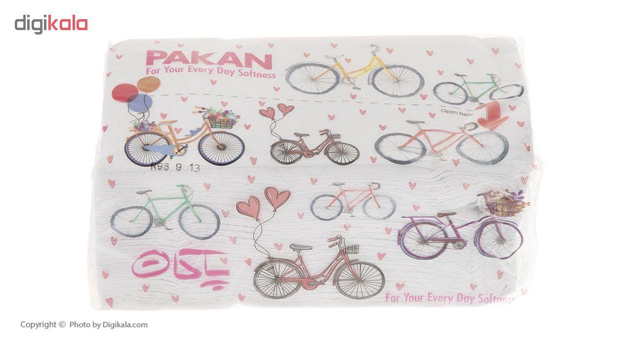 دستمال کاغذی 200 برگ پاکان مدل Simple بسته 10 عددی main 1 5