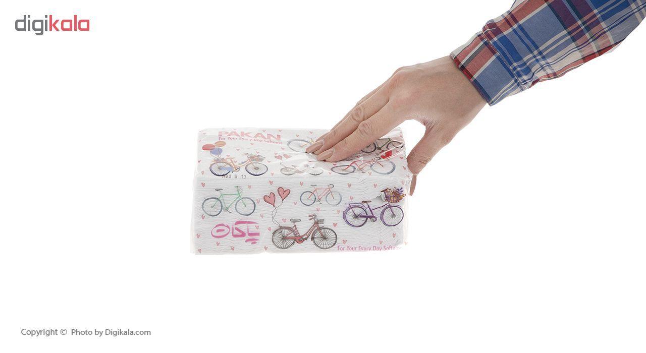 دستمال کاغذی 200 برگ پاکان مدل Simple بسته 10 عددی main 1 7