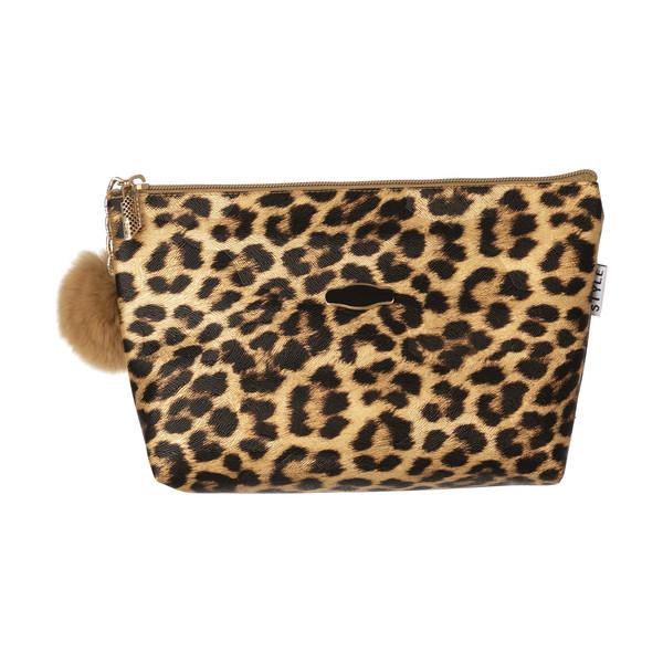 کیف لوازم آرایش زنانه طرح پلنگی