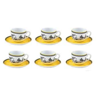سرویس چای خوری 12 پارچه چینی زرین ایران مدل 006