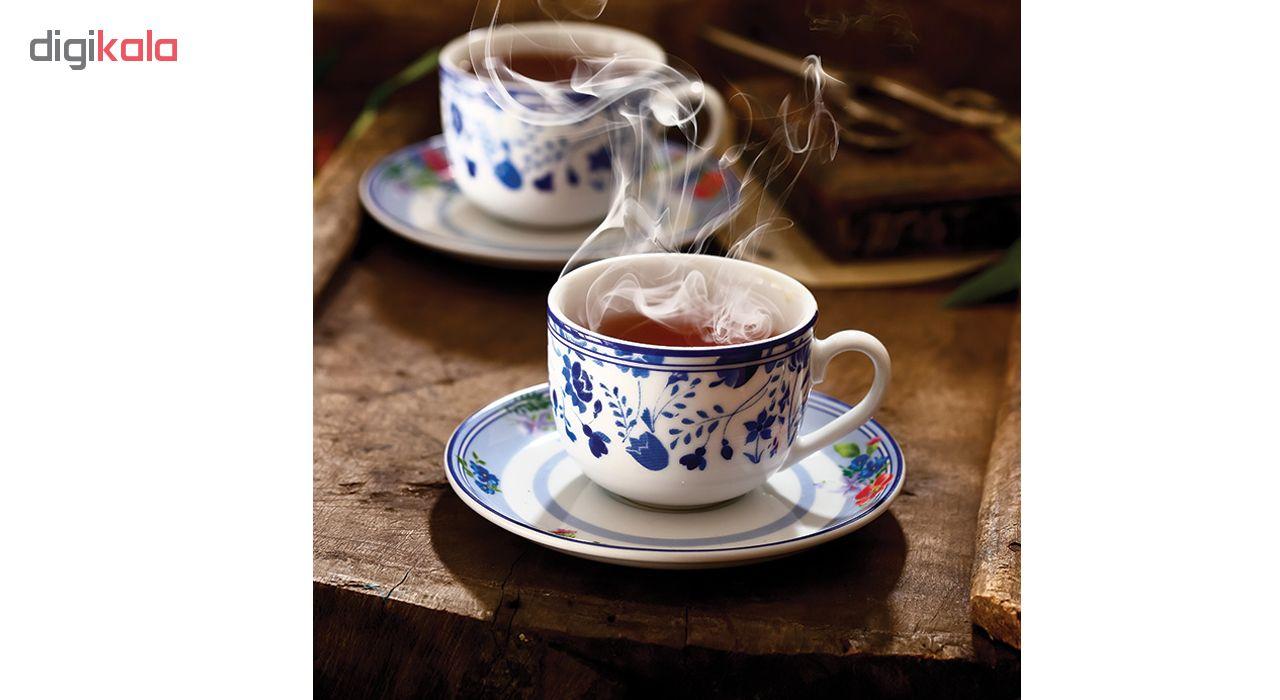 سرویس چای خوری 12 پارچه چینی زرین ایران مدل 007