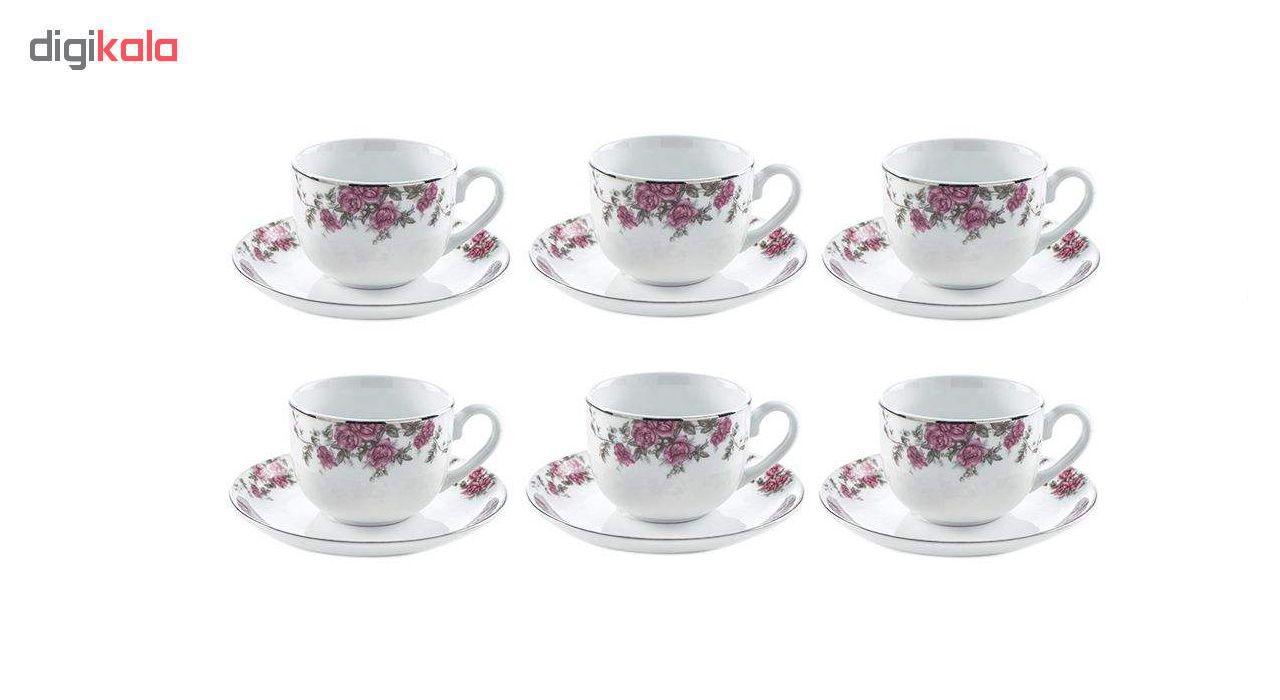 سرویس چای خوری 12 پارچه چینی زرین ایران مدل 008