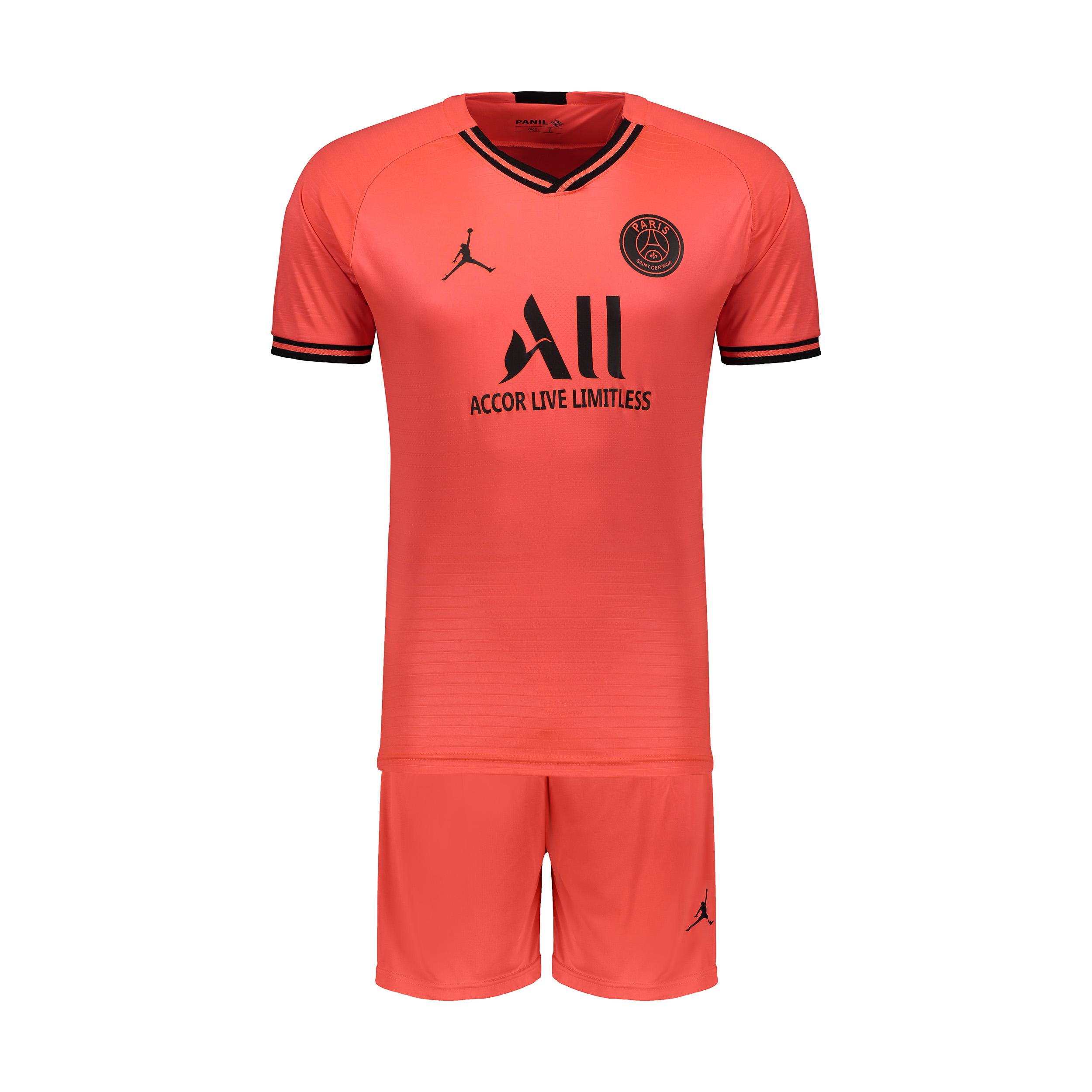 ست پیراهن و شورت ورزشی پسرانه پانیل طرح تیم پاریس کد 23082