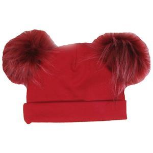 کلاه استرج پوم پوم دار مدل قرمز