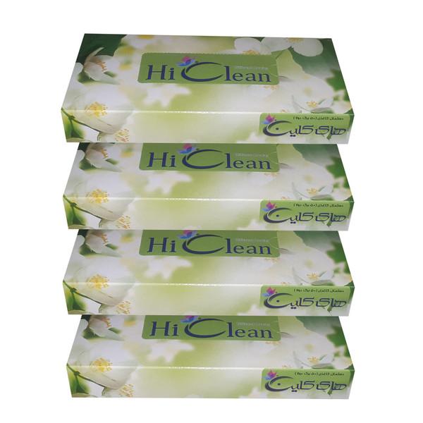 دستمال کاغذی 50 برگ های کلین طرح شکوفه بسته 4 عددی