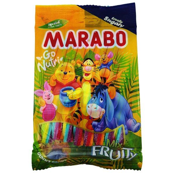 پاستیل مدادی شکری میوه ای مارابو مقدار 120 گرم
