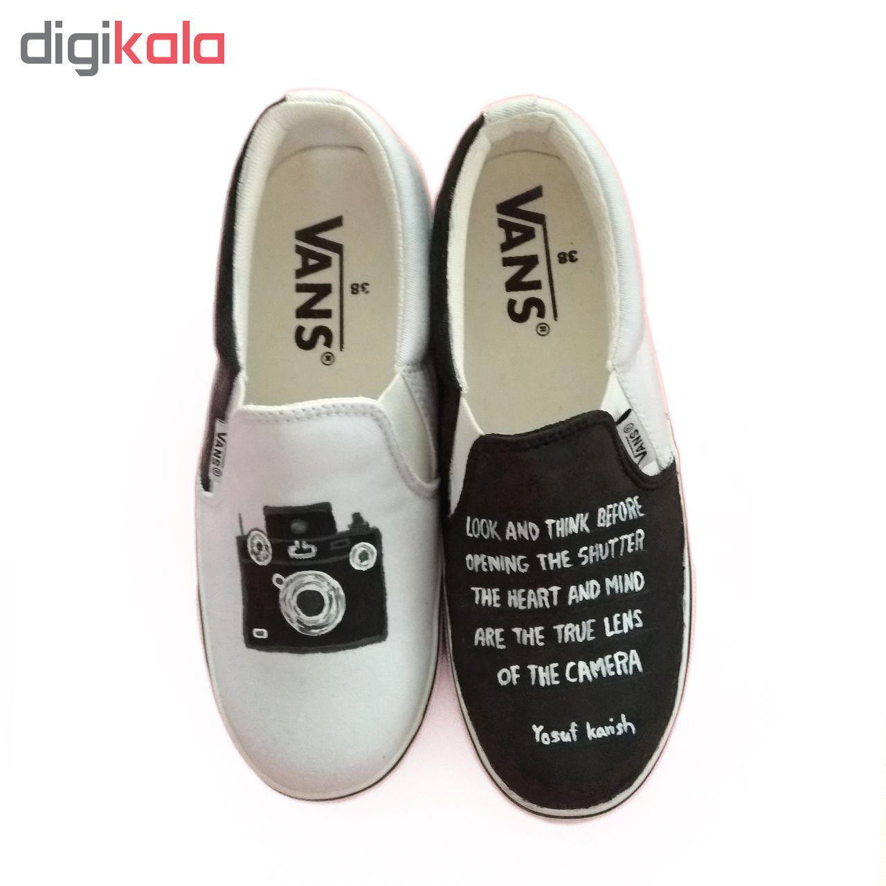 کفش راحتی ونس طرح دوربین کد V-2 طراحی توسط دالاوین