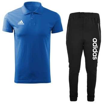 ست پولوشرت و شلوار ورزشی مردانه کد adi29w رنگ آبی