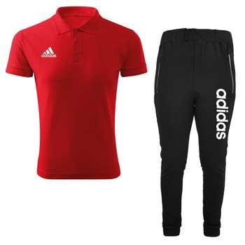 ست پولوشرت و شلوار ورزشی مردانه کد adi29w رنگ قرمز