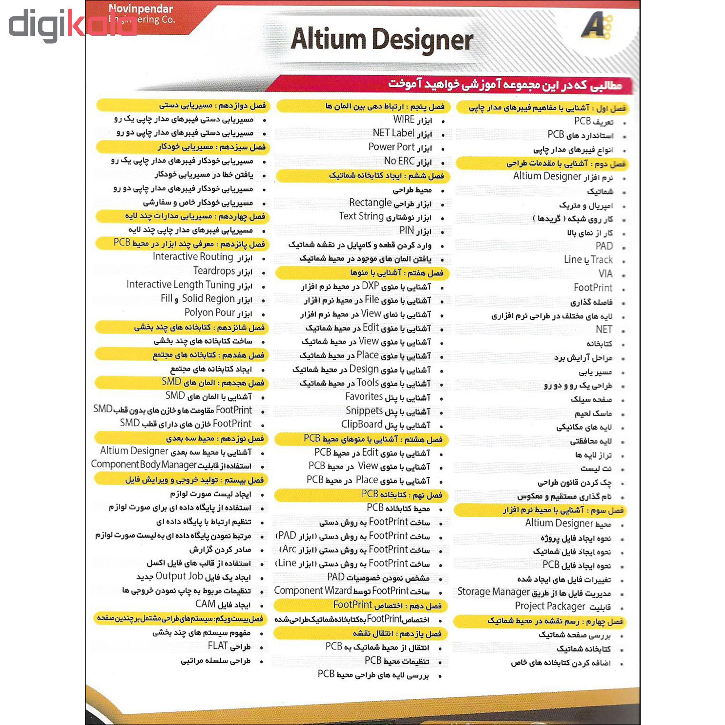 نرم افزار آموزش Altium Designer نشر نوین پندار به همراه نرم افزار آموزش Plc نشر پدیده