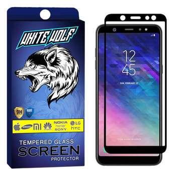 محافظ صفحه نمایش وایت ولف مدل WGF مناسب برای گوشی موبایل سامسونگ Galaxy A6 plus 2018