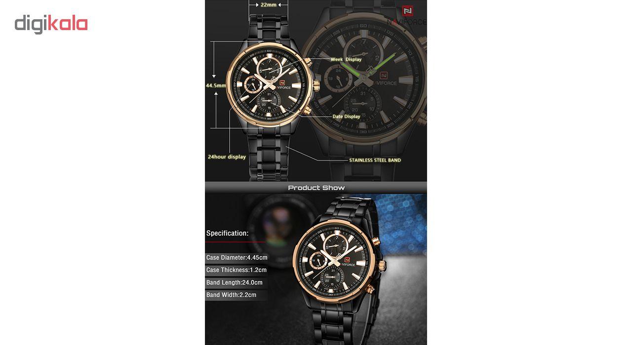 کد تخفیف                                      ساعت مچی عقربه ای مردانه نیوی فورس مدل NF9089M RG