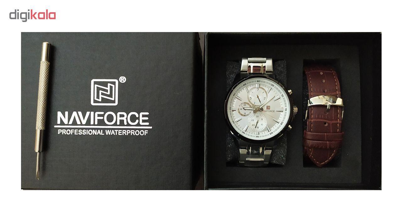 ساعت مچی عقربه ای مردانه نیوی فورس مدل NF9089M RW -  - 4