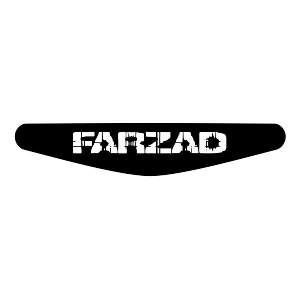 برچسب لایت بار دسته پلی استیشن 4 ونسونی طرح FARZAD