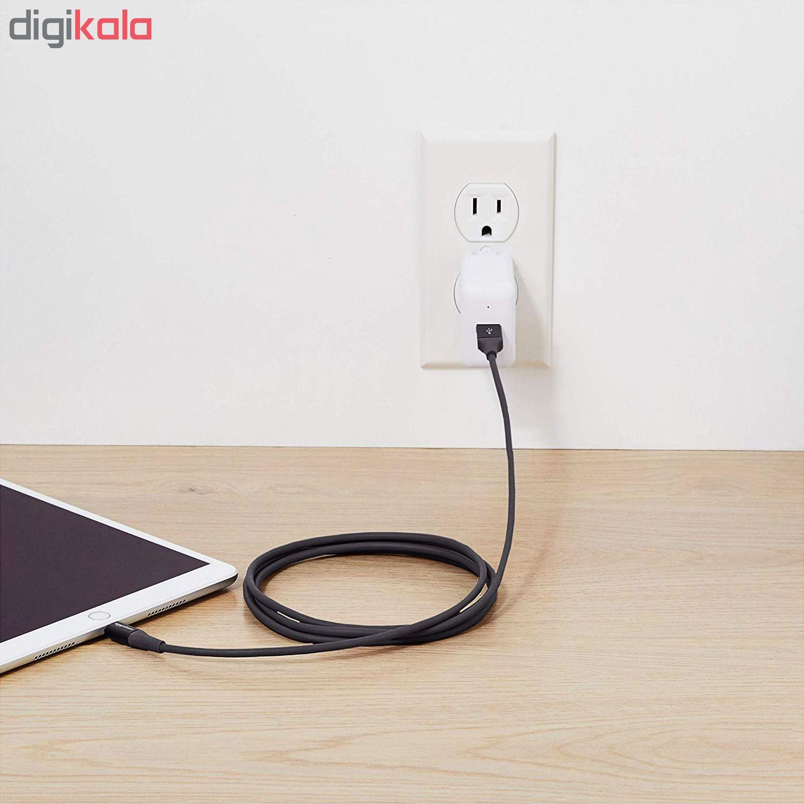 کابل تبدیل USB به لایتنینگ آمازون بیسیکس مدل L6LMF129-CS-R طول 1.8 متر main 1 3