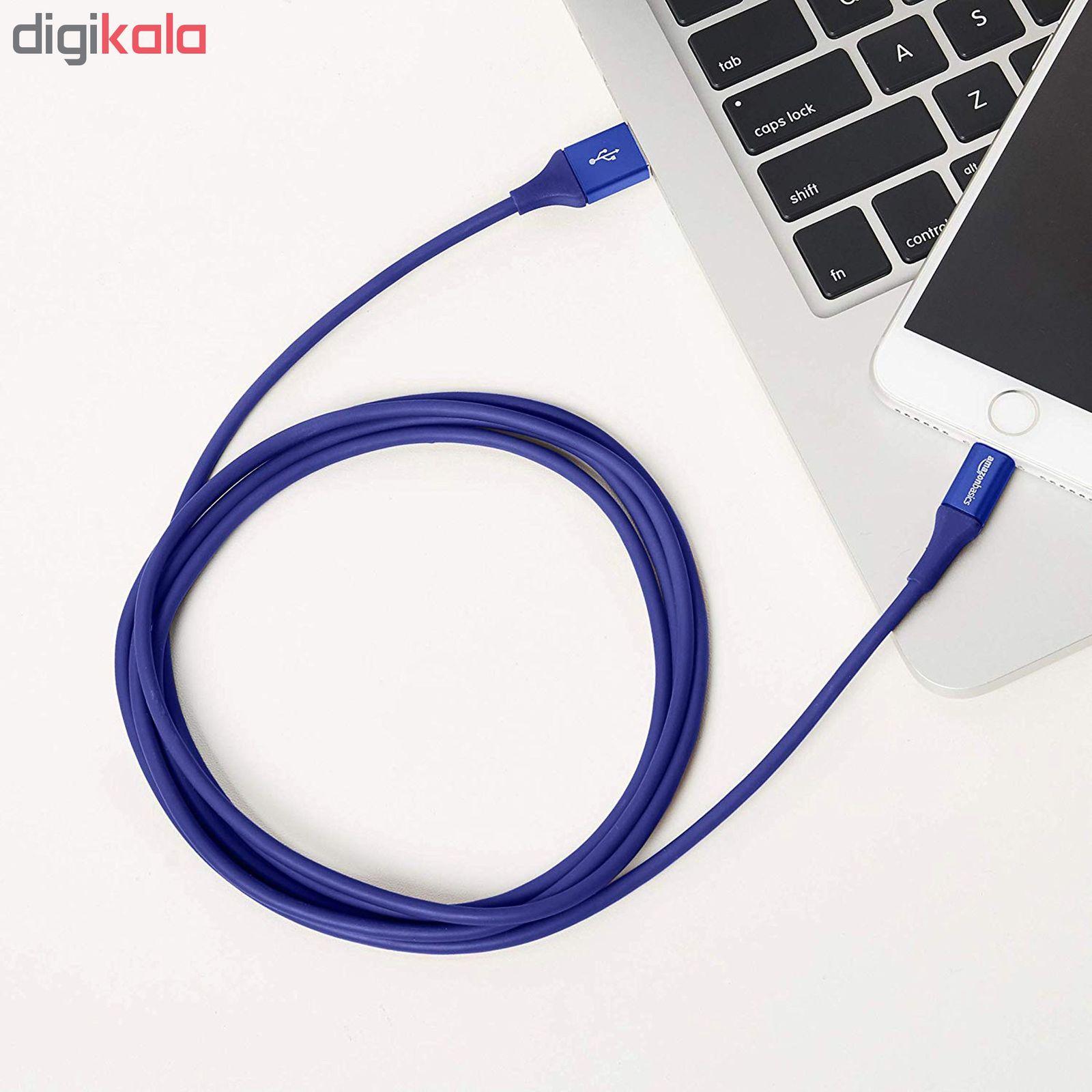 کابل تبدیل USB به لایتنینگ آمازون بیسیکس مدل L6LMF129-CS-R طول 1.8 متر main 1 6