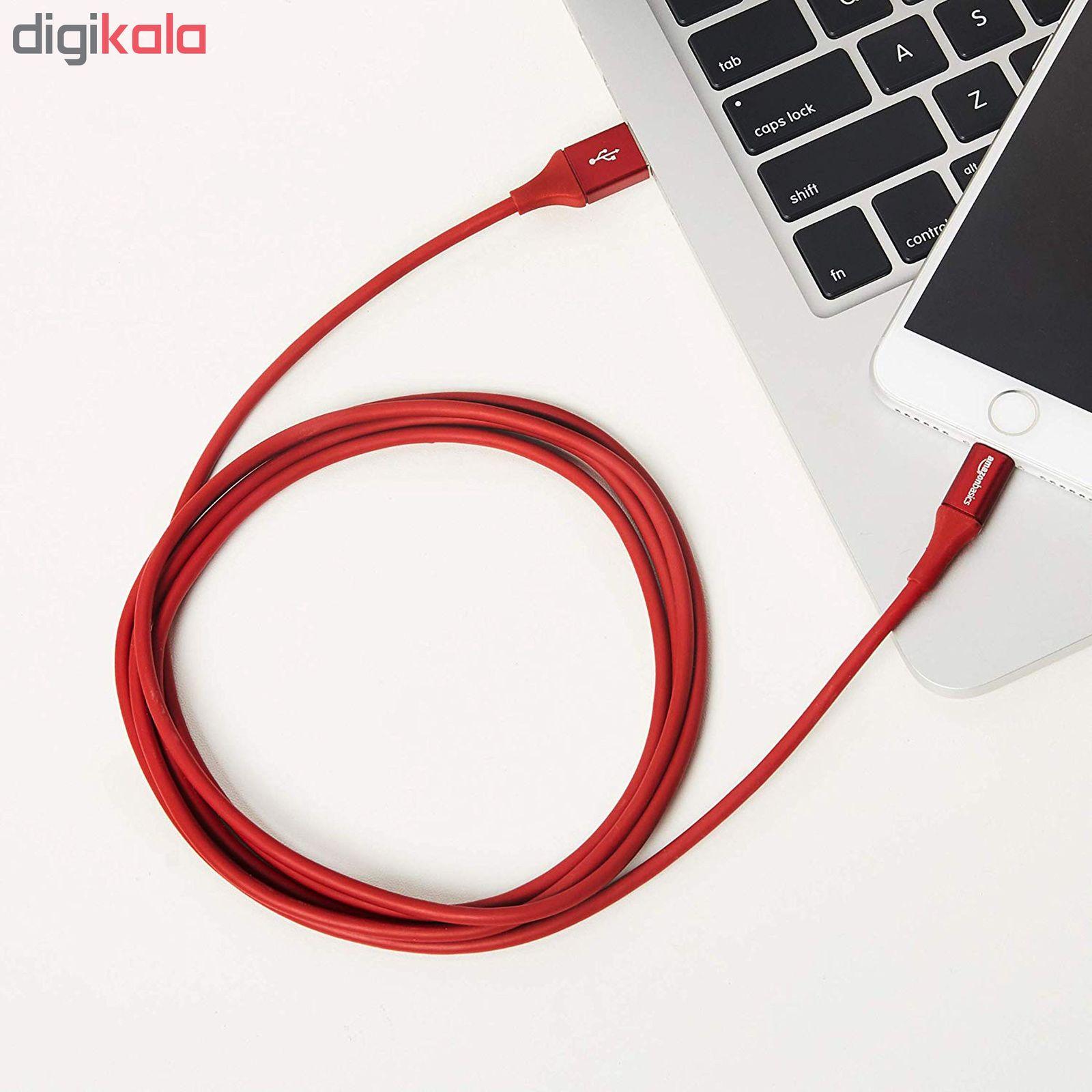 کابل تبدیل USB به لایتنینگ آمازون بیسیکس مدل L6LMF129-CS-R طول 1.8 متر main 1 8