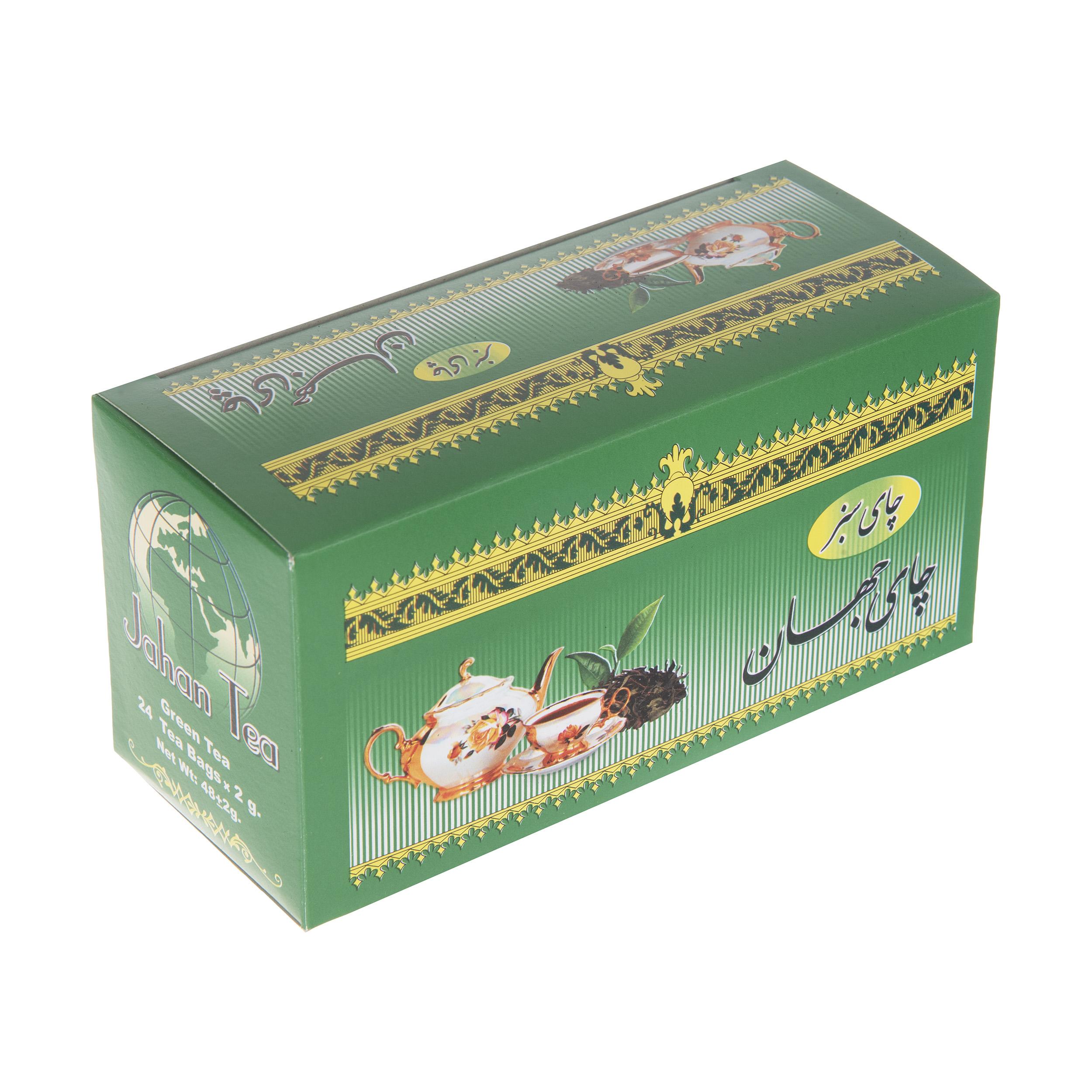 چای سبز  کیسه ای جهان بسته 24 عددی