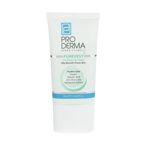 ماسک پاکسازی کننده پوست صورت پرودرما مدل Purevest مقدار 15.0  گرم