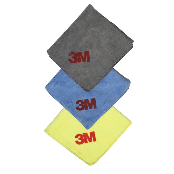 دستمال میکروفایبر نظافت  خودرو تری ام مدل GSM400 بسته 3 عددی