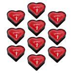 شمع وارمر طرح قلب کد RF345 بسته 10 عددی thumb
