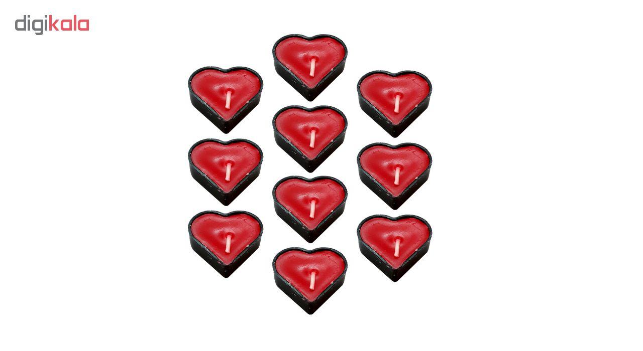 شمع وارمر طرح قلب کد RF345 بسته 10 عددی