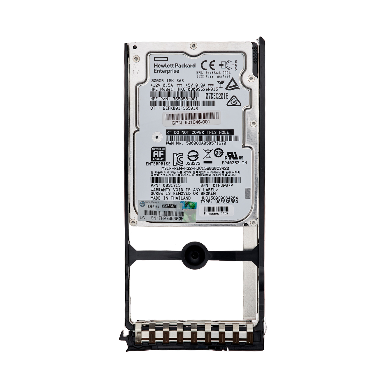 هارددیسک اینترنال اچ پی ای مدل HKCF0300S5xeN015 ظرفیت 300 گیگابایت