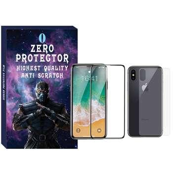 محافظ صفحه نمایش و پشت گوشی زیرو مدل FUZ-01 مناسب برای گوشی موبایل اپل Iphone X/Xs