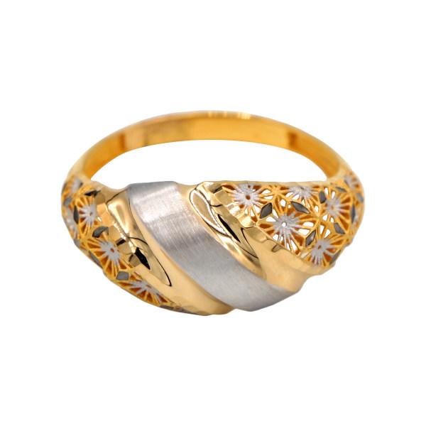 انگشتر طلا 18 عیار زنانه دارینا کد 0611.1.02.7008